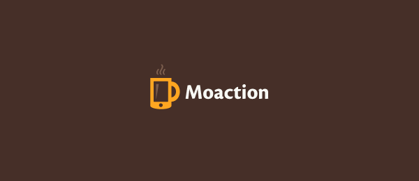brown cup logo moaction 21