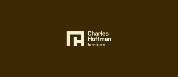 brown furniture logo c h typo 3