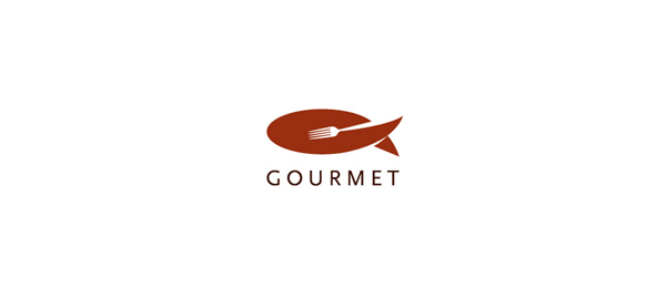 brown logo gourmet restaurant 49