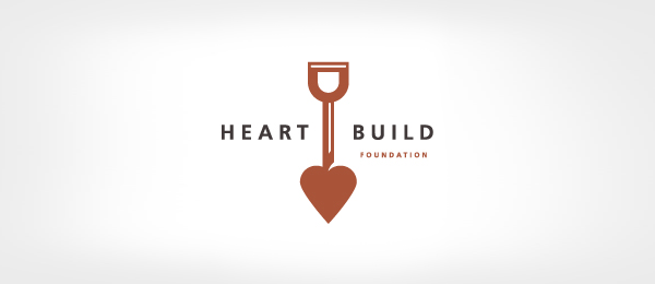 brown logo shovel heart building 26