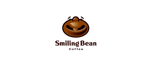 brown logo smiling bean 22