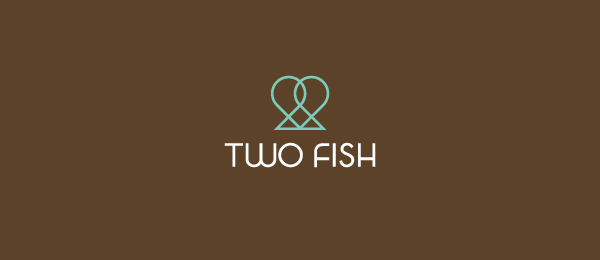 brown logo two fish 6