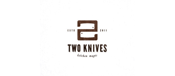 brown logo two knives 51