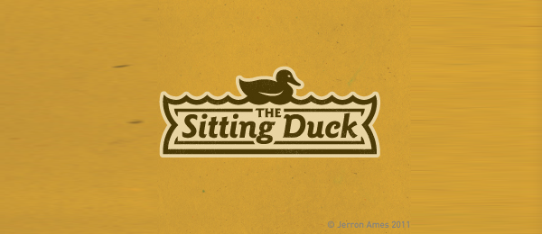 brown sitting duck logo 24