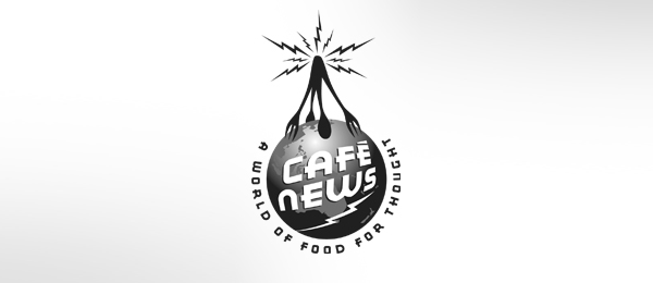 cafe news logo design