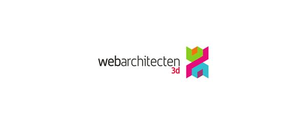 colorful 3d logo web architecten