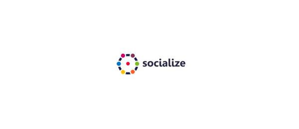 computer logo circle socialize 41