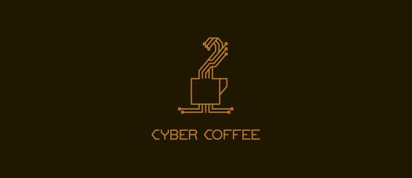 computer logo cyber coffee 20