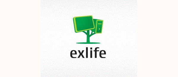 computer logo exlife 8