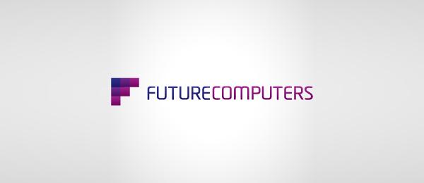 computer logo pixel f font 38
