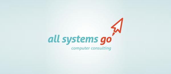 computer logo red arrow 27