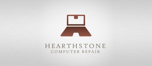 computer repair logo h typo 16