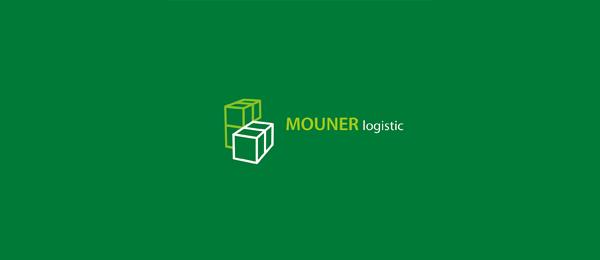 cube 3d logo mouner logistic