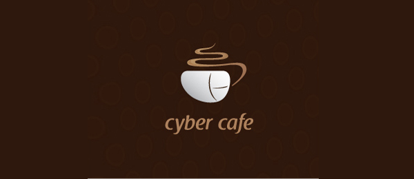 cyber cafe brown logo 14