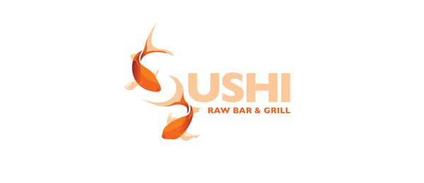 fish sushi logo http://hative.com/cool-sushi-logos/