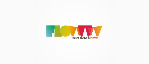 flowww news logo design