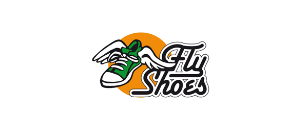 fly shoes logo