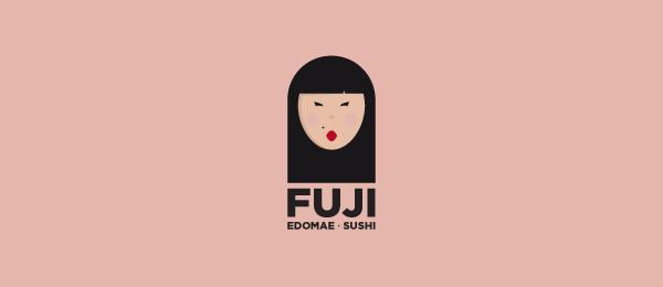 fuji sushi logo http://hative.com/cool-sushi-logos/