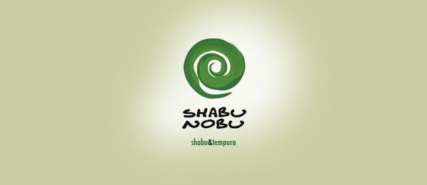 green sushi logo shabu nobu http://hative.com/cool-sushi-logos/