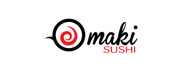maki sushi logo http://hative.com/cool-sushi-logos/