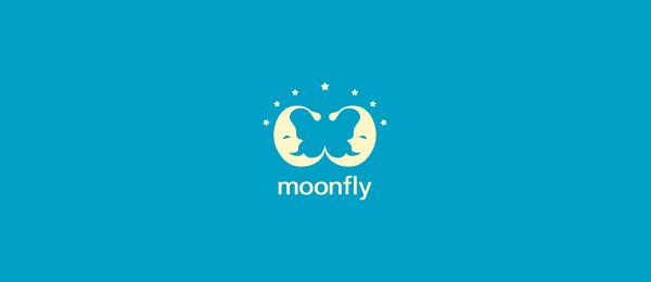 moon butterfly logo moonfly