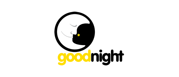 moon logo good night