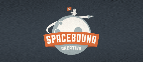 moon logo spacebound creative