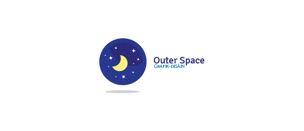 moon stars logo outher space