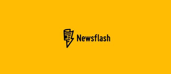 newspaper logo news flash