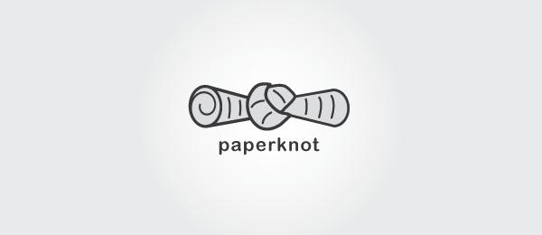newspaper logo paper knot