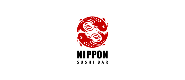 nippo sushi bar logo http://hative.com/cool-sushi-logos/
