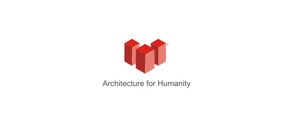 red 3d logo architecture