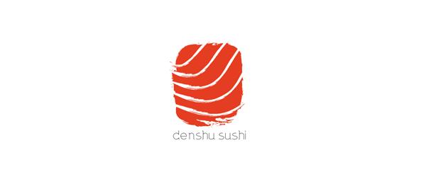 red sushi logo http://hative.com/cool-sushi-logos/