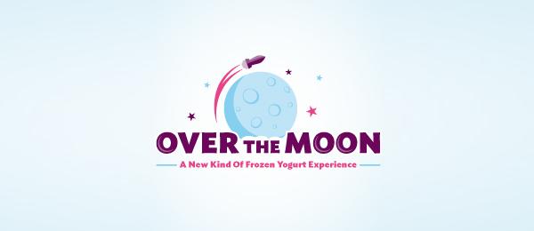 rocket over the moon logo