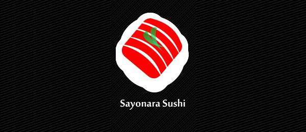 sayonara sushi logo http://hative.com/cool-sushi-logos/