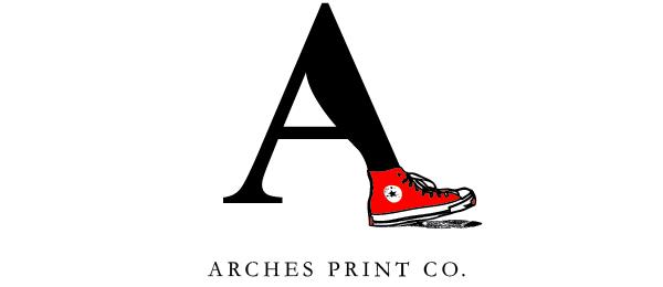 shoe logo arches print