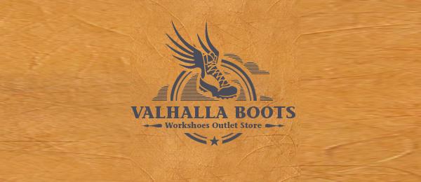 shoe logo valhalla boots