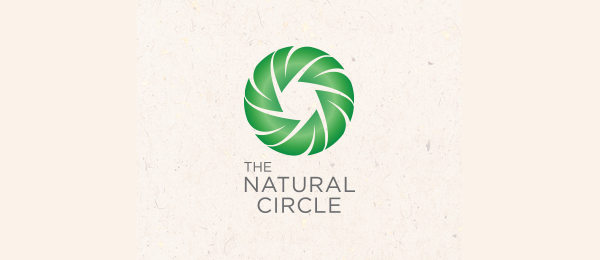spiral logo natural circle