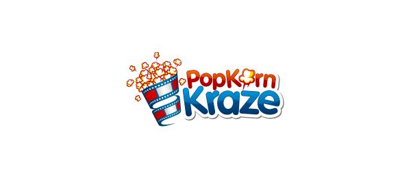spiral logo pop korn craze
