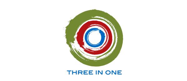 spiral logo three in one