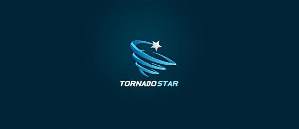 spiral logo tornado star