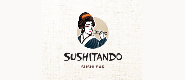 sushi bar logo sushitando http://hative.com/cool-sushi-logos/
