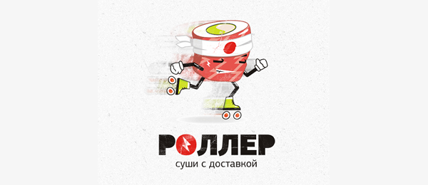 sushi delivery roller logo http://hative.com/cool-sushi-logos/