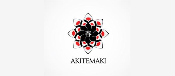 sushi logo aki temaki http://hative.com/cool-sushi-logos/