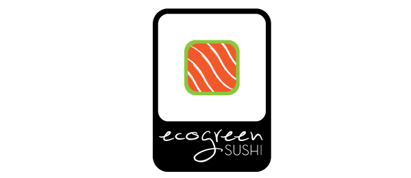 sushi logo eco green