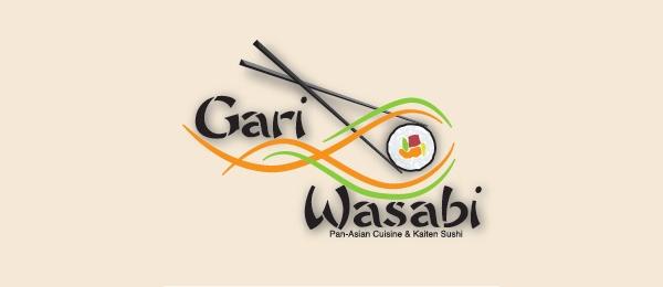 sushi logo gari wasabi
