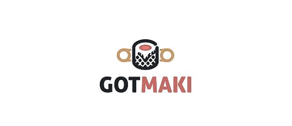 sushi logo got maki http://hative.com/cool-sushi-logos/
