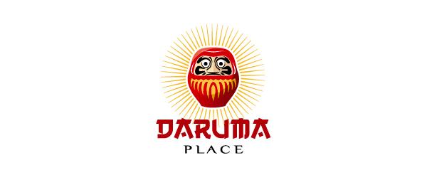 sushi logo japanese restaurant daruma http://hative.com/cool-sushi-logos/