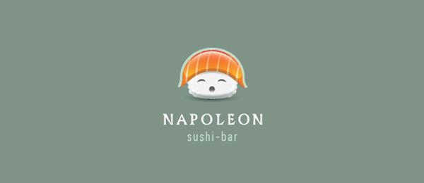 sushi logo napoleon http://hative.com/cool-sushi-logos/