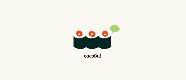 sushi logo wasabi http://hative.com/cool-sushi-logos/